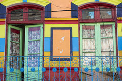 Detail of colored architecture in La Bocca Royalty Free Stock Photos