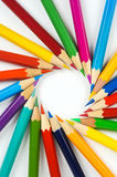 Detail of colored crayons Royalty Free Stock Images