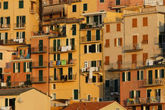 Detail of colored houses of Manarola Royalty Free Stock Photo