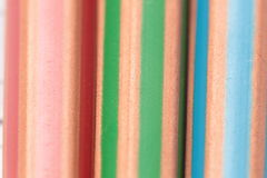 Detail of colored pencils stock photography