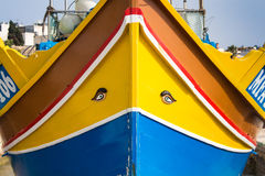 Detail of a colorful boat, island Malta Stock Photos