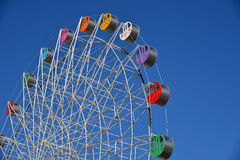 Detail of a colorful ferris wheel Royalty Free Stock Photography