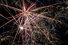 Detail of colorful fireworks Royalty Free Stock Image