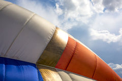 Detail of a colorful hot air balloon Stock Image