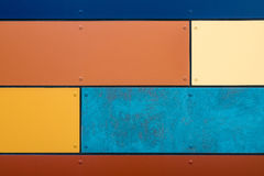 Detail of a colorful house wall Royalty Free Stock Image