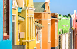 Detail of colorful houses in Luderitz - German town in Namibia Stock Photos