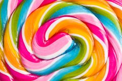 Detail of colorful lollipop. Top view royalty free stock images