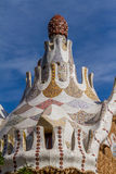 Detail of colorful mosaic work of Park Guell. Barcelona of Spain Royalty Free Stock Photography