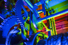 Detail of colorful old clock gear Stock Image