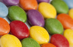 Detail of colorful smarties Royalty Free Stock Photography