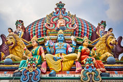 Detail of Colorful Sri Mariamman Temple in Singapore Stock Image