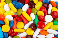 Detail of colorful sweets background Royalty Free Stock Images