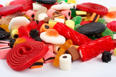 Detail of colorful sweets background Stock Image