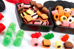 Detail of colorful sweets background Royalty Free Stock Photography
