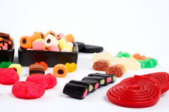 Detail of colorful sweets background Stock Images