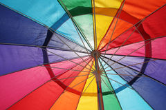Detail of colorful umbrella Stock Photography