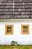 Detail of colorful windows on old traditional house Stock Photography