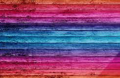 Colorful wooden wall Royalty Free Stock Image