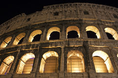 Detail of the Colosseum arches in Rome, Italy Stock Image