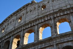 Detail of the colosseum Royalty Free Stock Image
