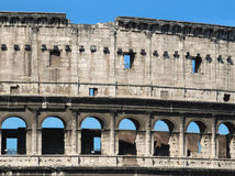 Detail of Colosseum Facade Royalty Free Stock Images