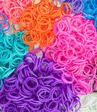 Detail of colourful loom bands Stock Photo