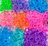Detail of colourful loom bands Stock Photography