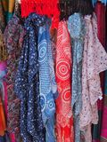Detail of Colourful Scarves Stock Photos