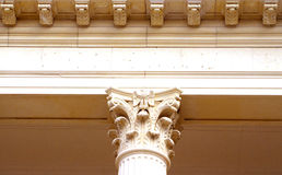 Detail of Column. Detail of ornate column in corporate building royalty free stock image