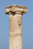 Column in Paphos. Detail of column in the archaeological park in Paphos, Cyprus stock images