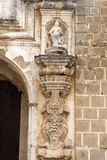 Detail column exterior in church of Antigua Guatemala, baroque, Spanish colonial style. royalty free stock image