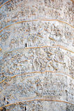 Detail of the Column of Traianus, Trajan's column. Rome, Italy Royalty Free Stock Images