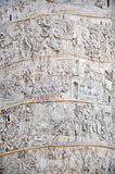 Detail of the Column of Traianus, Trajan's column. Rome, Italy Stock Images