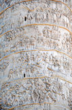 Detail of the Column of Traianus, Trajan's column. Rome, Italy Stock Photography