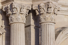 Detail of columns and capitals Royalty Free Stock Image