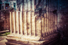 Detail of the columns of the Pantheon in Rome Royalty Free Stock Images