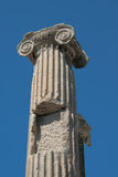 Detail of columns remaining from the ancient castle Royalty Free Stock Photo