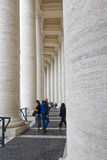 Detail of the columns in St. Peter`s Square Stock Photo