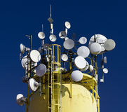 Detail of a communications broadcasting antenna Stock Image
