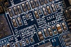 Detail of computer circuit board Royalty Free Stock Images