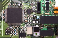 Detail of computer circuit board Stock Images