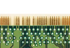 Detail of computer circuit board Stock Image