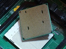 Detail of computer CPU. Royalty Free Stock Images