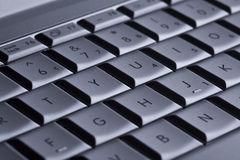 Detail of computer keyboard. Closeup Royalty Free Stock Image