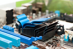 Detail of the computer motherboard Stock Photos
