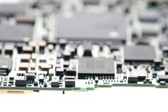 detail of computer motherboard Stock Images