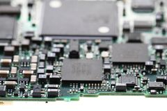 detail of computer motherboard Stock Photos