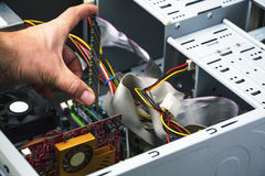 Detail of computer repair service. With RAM stock photos