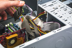 Detail of computer repair service. With RAM Royalty Free Stock Photos