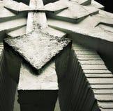 Detail concreet abstract beeldhouwwerk Royalty-vrije Stock Foto